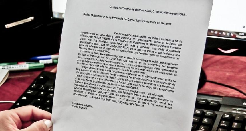 Cardozo defendió la carta documento, y en vez de pacificar, endurece la relación con Bonatti