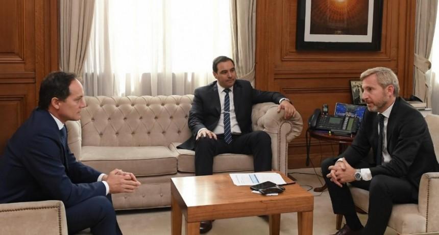Frigerio recibió al gobernador Valdés y al senador Camau Espínola