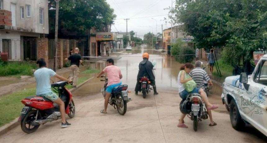 Llovió 40 mm y por tercera vez en el mes varios barrios quedaron bajo agua