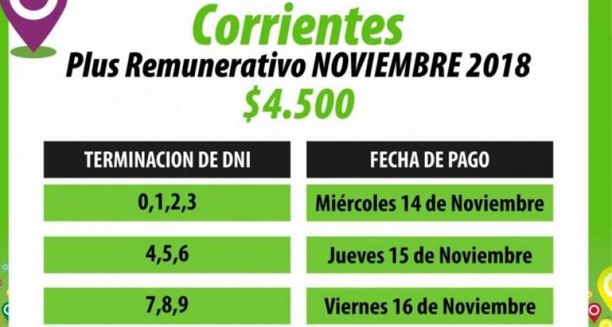 Provincia paga plus de $4.500 de noviembre