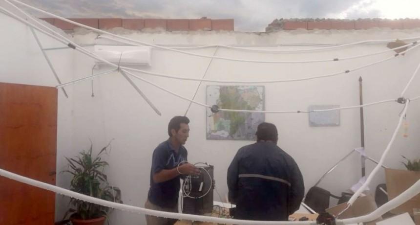 Temporal en Esquina voló techo de la delegación de Vialidad