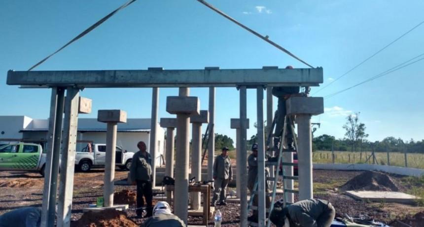 En Yapeyú avanza la construcción de una estación transformadora