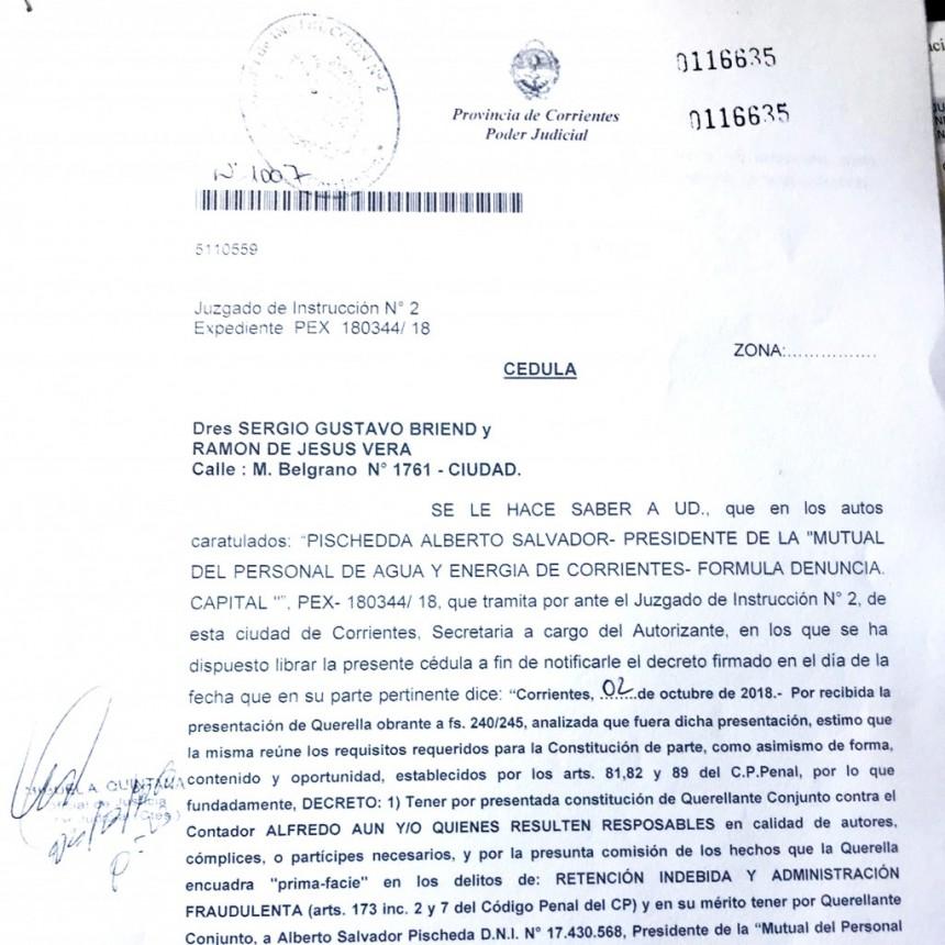 Peligra la continuidad de Aun por una imputación por fraude