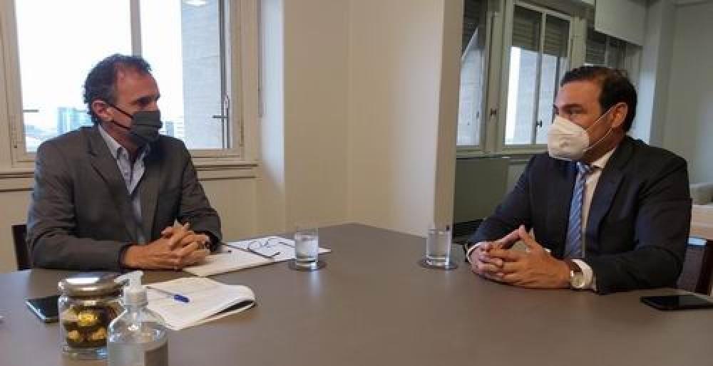 El gobernador Valdés coordinó con la nación las obras para corrientes