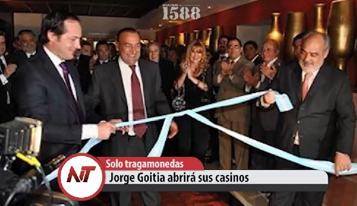 Solo tragamonedas: Jorge Goitia abrirá sus casinos
