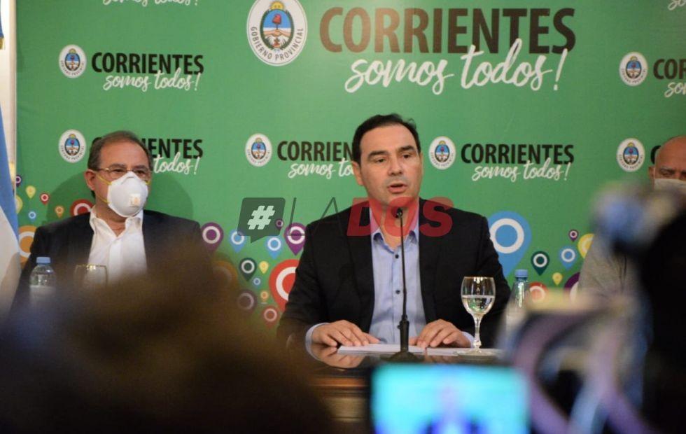 Coronavirus en Corrientes: Gustavo Valdés confirmó que este jueves anunciará medidas