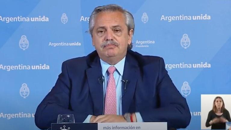 Alberto Fernández aclaró que recién