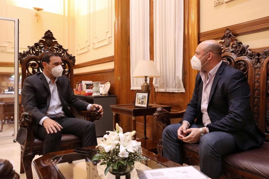 Valdés ratificó trabajo conjunto con Ascúa para afrontar al COVID-19