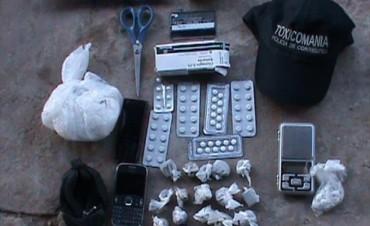 Desbarataron un kiosco de venta de diferentes drogas en el barrio Pirayuí