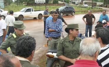 Policías retirados cortaron la ruta nacional 14 y piden ser atendidos
