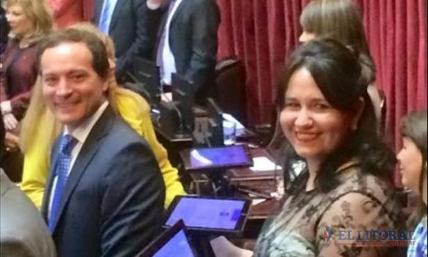 """Juraron los senadores nacionales y una correntina lo hizo por """"Néstor y Cristina"""""""