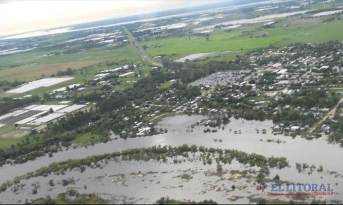 La lluvia complicó a departamentos del Sur aunque los ríos se mantuvieron estacionados