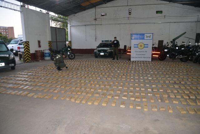 La Gendarmería confiscó más de 600 kilos de marihuana cerca de Itatí