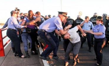 Policía de Chaco y Gendarmería desalojaron a manifestantes