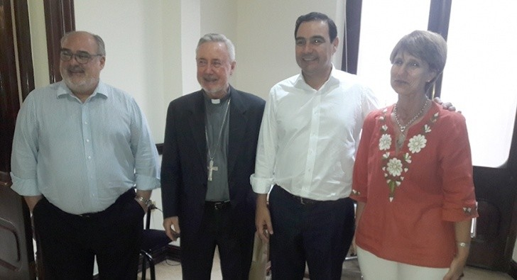 Ricardo Colombi se despidió de monseñor Stanovnik