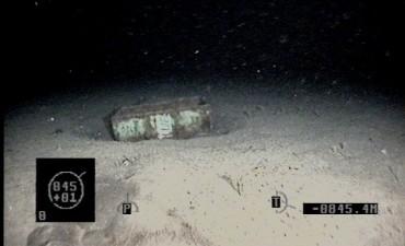 ARA San Juan: encuentran medio tambor a 845 metros de profundidad