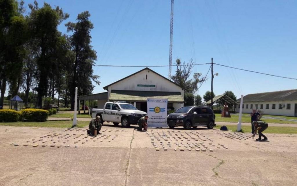 Detienen a un hombre con 114 kilos de marihuana en Tapebicuá