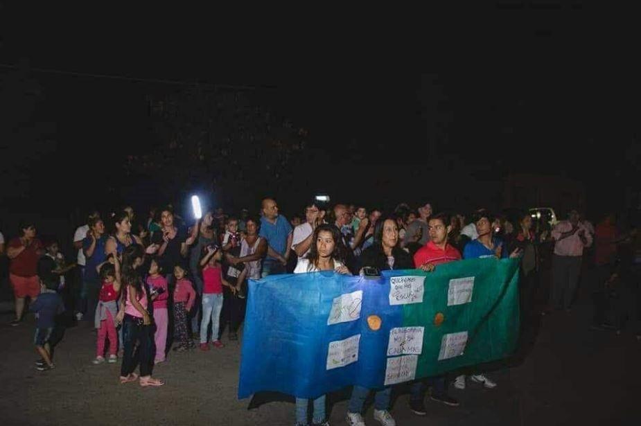 Masiva movilización en Perugorría por el déficit energético en el pueblo
