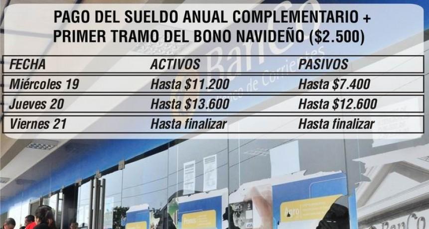 Provincia paga aguinaldo y primer tramo del bono navideño de $6.000