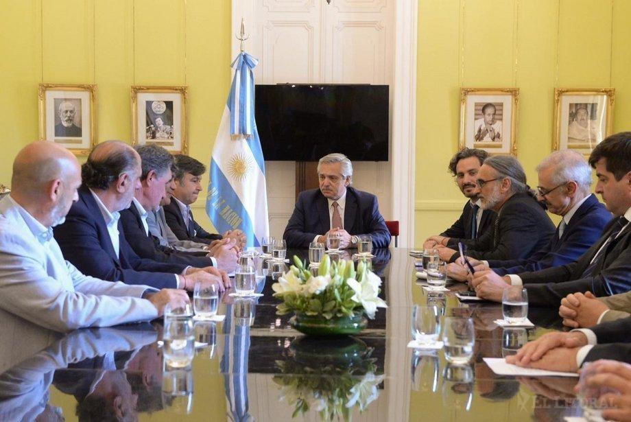 El Presidente Alberto Fernández recibió a los referentes de la Mesa de Enlace