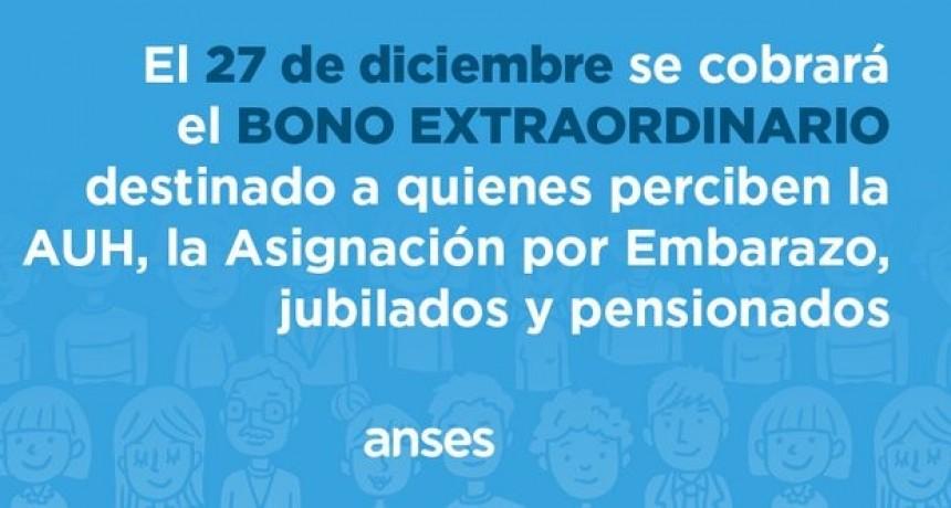 Anses: Cómo será el pago del bono para jubilados, pensionados y las asignaciones