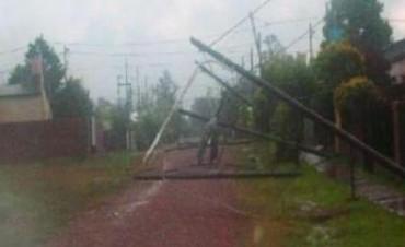 Santo Tomé: tras el temporal, DPEC restablece el 80% de la energía en la ciudad