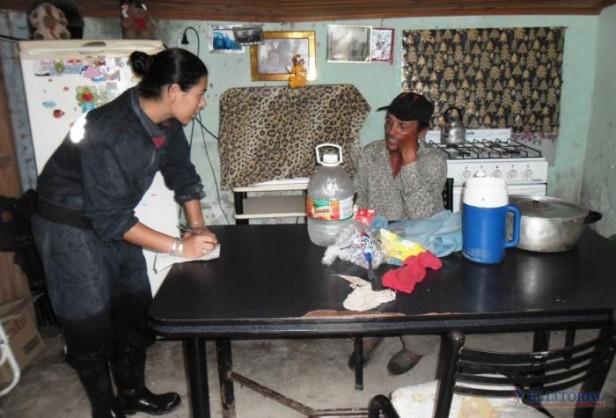 Evacuados de Santa Lucía esperan que el río baje y en Bella Vista sigue la recuperación