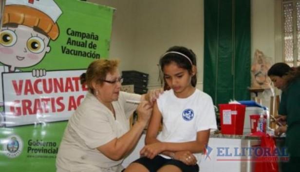 Empiezan hoy los operativos de vacunación en escuelas
