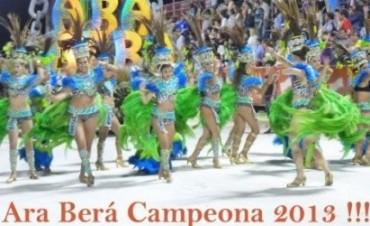 Ara Berá se consagró 'pentacampeona' de los Carnavales 2013