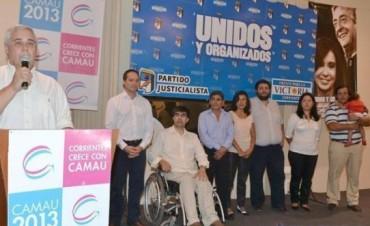 Con un mensaje de inclusión, Camau presentó a sus candidatos a concejales