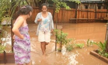Cerca de 200 familias afectadas por las lluvias en unas cinco localidades