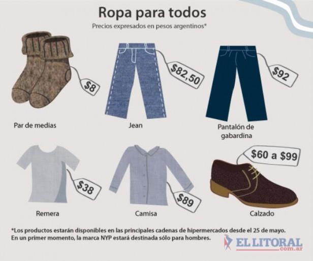 En Corrientes también se podrán adquirir prendas de Ropa para Todos