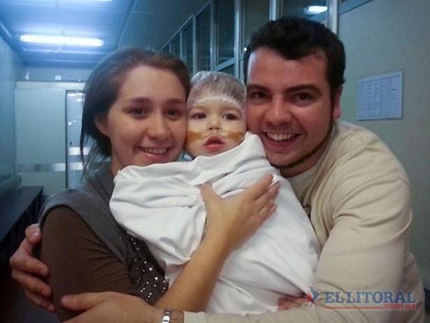 Con un nuevo corazón, el pequeño Renzo se recupera del complejo trasplante