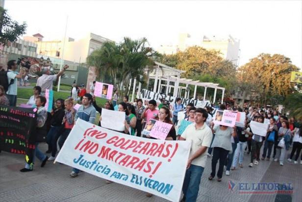 Familiares de Elizabeth Verón y grupos sociales reclamaron justicia por femicidio