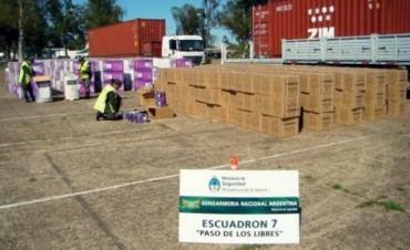 Gendarmería recuperó camiones con artículos robados